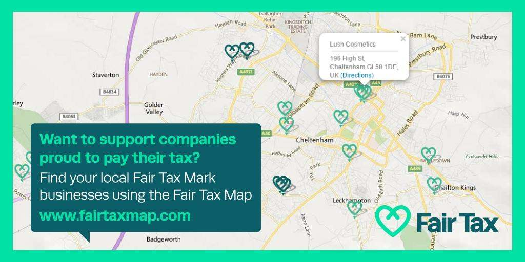 Fair Tax Mark map